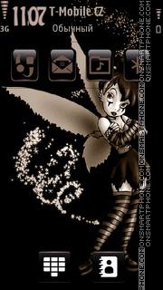 Gothic Tinkerbell theme screenshot