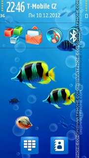 Ocean Life HD theme screenshot