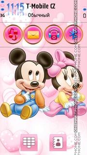 Скриншот темы Minnie and Mickey