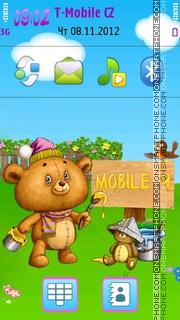 Cute Teddy Bear Theme tema screenshot