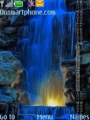 Скриншот темы Night Waterfall
