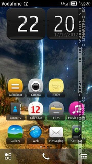 3d Space 01 theme screenshot