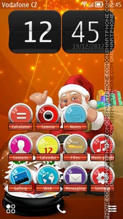 Christmas Orange theme screenshot