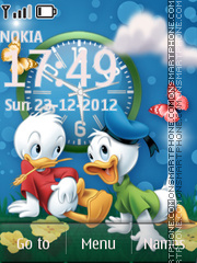 Donald Duck Clock 02 theme screenshot