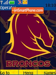 Brisbane Broncos theme screenshot
