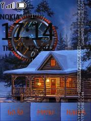 Winter Nice Clock es el tema de pantalla