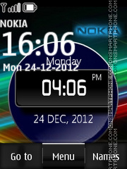 Neon Nokia Digital theme screenshot