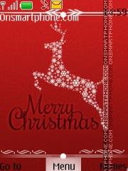 Christmas Deer theme screenshot