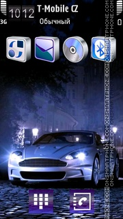 Blue Car - Aston Martin Theme-Screenshot