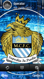 Manchester City tema screenshot