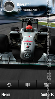 Mercedes F1 theme screenshot