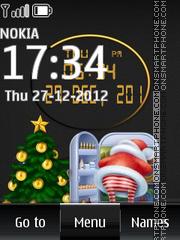 Santa Digital Clock tema screenshot