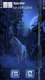 Winter Wolf theme screenshot