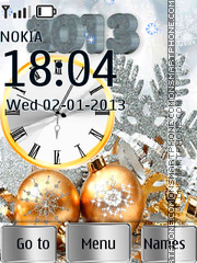 Silver gold a year theme screenshot