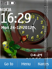Parrot Dual Clock 01 tema screenshot