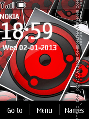 3d Sharingan tema screenshot