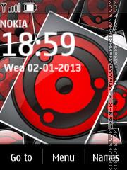 3d Sharingan theme screenshot