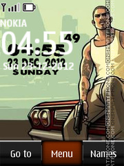 Gta digital clock theme screenshot