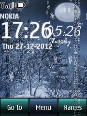 Winter Digital Clock 02 theme screenshot