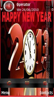 Red Clock 2013 tema screenshot