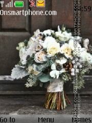 Winter flowers tema screenshot