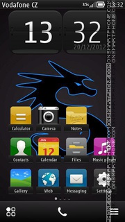 Скриншот темы Dragon Belle