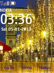 Скриншот темы Christmas in Paris