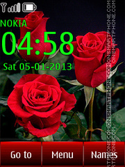 Red Roses tema screenshot