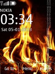 Скриншот темы Fire and water