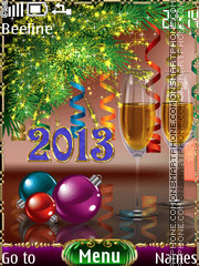 Happy New Year tema screenshot