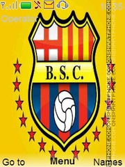 Barcelona SC theme screenshot