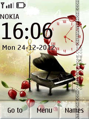 Piano clock tema screenshot