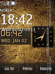 Texture Gold es el tema de pantalla