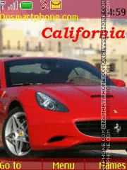 Ferrari California tema screenshot