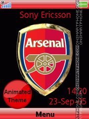 Arsenal FC theme screenshot