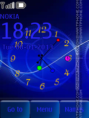 Blue theme clock theme screenshot