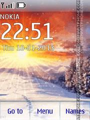 Winter Dawn theme screenshot