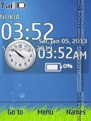 Blue Deep Clock Theme-Screenshot