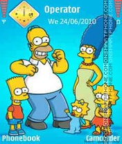Simpsons Family theme screenshot