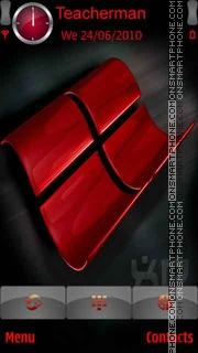 Скриншот темы Windows XP-Red