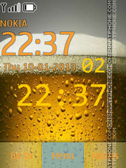 Beer Clock theme screenshot