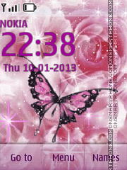 Butterfly on Rose tema screenshot