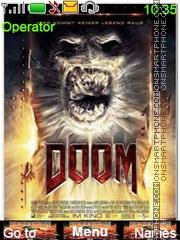 Doom Vision Miedo tema screenshot