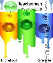 Colorful HTC theme screenshot