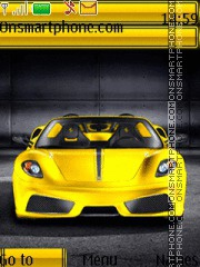 Yellow Ferrari 01 theme screenshot
