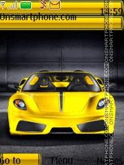 Скриншот темы Yellow Ferrari 01