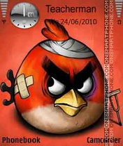 Red Angry Bird theme screenshot