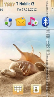 Sea Shells On Sand theme screenshot