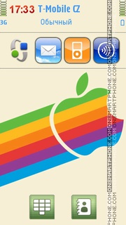 Rainbow Apple Logo theme screenshot
