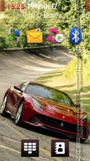 Red Ferrari Berlinetta tema screenshot